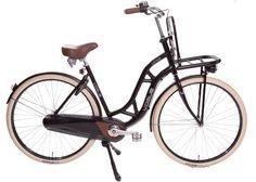 Transportfiets Vogue Lifter.   Deze matzwarte transportfiets van Vogue is een trendy damesfiets met drie versnellingen van Shimano.