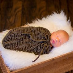 Ravelry: Spiral Herringbone Baby Cocoon or Swaddle Sack pattern by Crochet by Jennifer