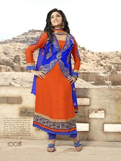 Pure Georgette Straight Cut Semi stitched Salwar suits with lining,  Price : 1850/- INR free shipping in India For Orders..Whatsapp or Call us @ 8861568859 Mail id: salwarstyles@gmail.com