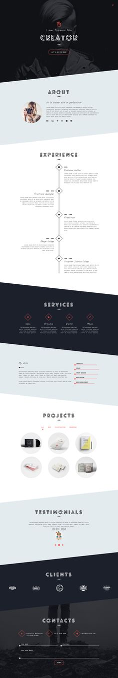 Unica Personal One-page HTML5 Template (web design)