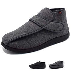 8490f9457a NKeepB Men's Wide Width Autumn and Winter Diabetes Shoes - Arthritis Edema  Slippers
