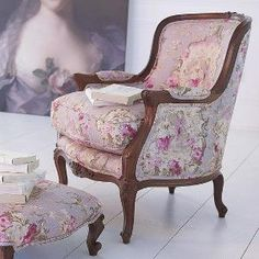Here is another example of the Fragonard toile in lilac by Richloom. by selma