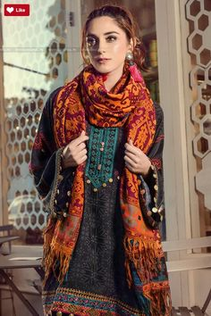 Maria B Linen 2017 Price in Pakistan famous brand online shopping, luxury embroidered suit now in buy online & shipping wide nation. Pakistani Kurta, Pakistani Formal Dresses, Pakistani Bridal Wear, Pakistani Outfits, Lawn Suits, Pakistan Fashion, Indian Designer Outfits, Indian Wear, Indian Suits