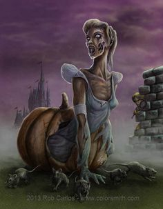 Zombie Princess Cinderella - by Rob Carlos
