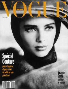 Vogue Paris Heather Stewart - Whyte by Dominique Issermann Vogue Magazine Covers, Fashion Magazine Cover, Fashion Cover, Vogue Covers, Vogue Paris, Original Supermodels, Photoshop Me, Dominique, Couture