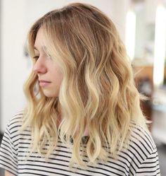 Blonde Balayage For Red Hair - Balayage Haare Blond Kurz Blonde Balayage Honey, Ombre Blond, Brown Ombre Hair, Ombre Hair Color, Hair Color Balayage, Hair Colors, Blonde Color, Highlights For Blonde Hair, Warm Blonde