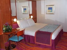 Norwegian Pearl inside accessible cabin, one of 27 total on this ship.