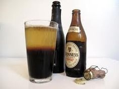 Black and Velvet Ingredients: 4 oz Champagne 4 oz chilled stout Preparation: Pour the Champagne into a beer mug, pint glass or Champagne flute. Slowly pour the stout on top.
