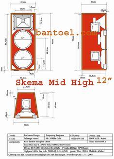 Diy Subwoofer, Subwoofer Box Design, Speaker Box Design, 12 Inch Speaker Box, Pro Audio Speakers, Speaker Plans, Speaker Amplifier, Sound Design, Loudspeaker
