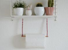 DIY | Hübsche Halterung für die Küchenrolle selber machen |