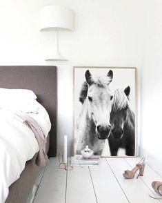 Horses Art Print, Horses Wall Art, Horse Print , Scandinavian print