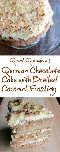 German Chocolate Cake With Broiled Frosting