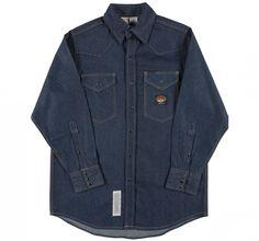379fa5cebfba Rasco Direct. Rasco Fire Retardant BLUE DENIM Shirt FR Western with Snaps  11.5 oz Shirts