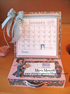 Easel calendar with drawer