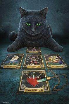 Pine Pentagram Cat Candle Black Etc. Wicca Spells Great for Halloween Birthdays
