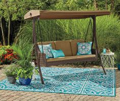 I Found A Sonoma Resin Wicker 3 Person Canopy Swing At Big Lots For Less