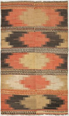 anatolian kilim from abc carpet & home Textiles, Textile Patterns, Print Patterns, Magic Carpet, Texture Design, Floor Rugs, Kilim Rugs, Surface Design, Rugs On Carpet