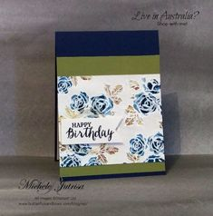 Brusho meets Petal Palette from Stampin' Up! -