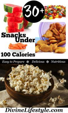 30+ Snacks Under 100 Calories