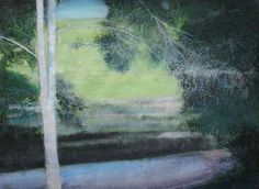 "Saatchi Art Artist Thomas Lamb; Painting, ""May Blossom and Stream"" #art"