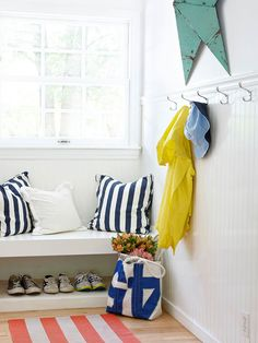 Hooks are handy if you don't have a coat closet near the door or if your entry is tiny.