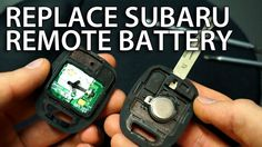 How to change #battery in #Subaru key #remote #Impreza #Forester CR1620