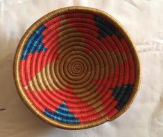 "Siveta art baskets/ round basket/ 7"" basket/interior design/ Rwanda baskets/ Coiled basket/ Baskets shop/ Baskets for storage/  Baskets wall"