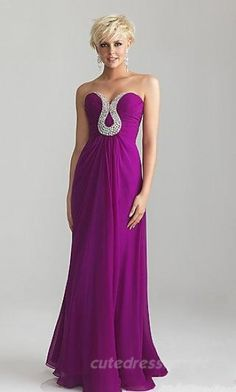 Beautiful purple dress with bedazzles. Prom dress