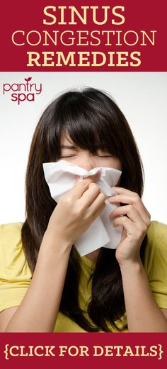 With the winter weather, runny noses and sinus drainage seem like a never ending plague. Ignoring these symptoms for too long puts you at risk for sinus infections that will have you down for a week or more, but who has the time to go sit in the doctors office? Try some of these sinus congestion home remedies.