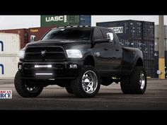 RAM 3500 Dually on American Force Wheels - YouTube