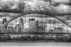 Minne in Mono by Bill Donovan on Capture Minnesota // daytime Lowry Bridge