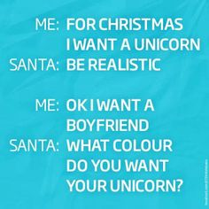 A unicorn for Christmas?