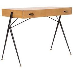 Silvio Cavatorta Ladies Desk Console Table Mid-Century Italian, 1950s-1960s | From a unique collection of antique and modern desks at https://www.1stdibs.com/furniture/storage-case-pieces/desks/