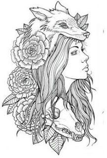 Coloring Pages: Coloring Pages For Tattoo Women Elegant