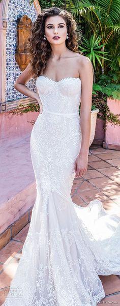 leah da gloria 2017 bridal strapless sweetheart neckline full embellishment bustier bodice elegant mermaid wedding dress chapel train (sarina) zv -- Leah Da Gloria 2017 Wedding Dresses