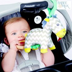 to my niece helping me show off our new Zebra Take-Along Pal! Nursery Crib, Baby Bedding, Cribs, Baby Car Seats, Parents, Product Launch, Toys, Children, Cute