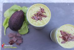 Healthy Quick Easy Fresh Minty Chocolate Spinach Avocado Power Smoothie