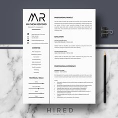 Professional Modern and Minimalist Resume Template for Word: Mathew Instant D ---CLICK IMAGE FOR MORE--- resume how to write a resume resume tips resume examples for student Resume Template Examples, Resume Design Template, Cv Template, Goals Template, Resume Writing Tips, Resume Tips, Resume Cv, Microsoft Word, Best Resume Format