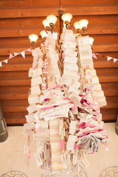 hanging paper centerpiece styled by SweetSundayEvents.com // photo by AlGawlikPhotography.com