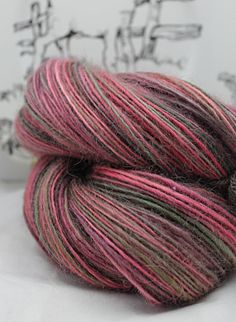 Handspun Yarn Gently Thick and Thin Single by SheepingBeauty, $48.00