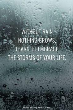 Van storm en regen leer je!