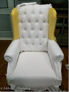 wingback chair progress 2