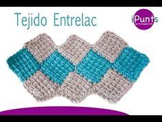 Tutorial tejido Entrelac (rombos) a crochet paso a paso - YouTube