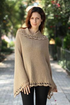 Alpaca blend poncho, 'Golden Camel'. Shop from #UNICEFMarket and help save the lives of children around the world.