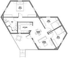Architects For Society Creates Low Cost Hexagon Refugee Houses within Small Hexagon House Plans With Regard to Really Encourage Beautiful. The Plan, How To Plan, Building Plans, Building Design, Building A House, Small House Plans, House Floor Plans, Casa Octagonal, Hexagon House