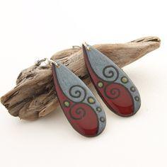Wood Teardrop Statement Earrings, Long Lightweight Dangle Earrings, Simple Everyday Earrings, Modern Geometric Earrings, Hypoallergenic by mybellebijoux on Etsy