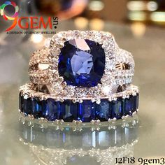 Adorn designer blue sapphire ring to look royal.