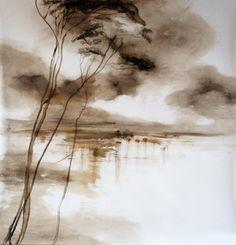 Huile sur Papier by Claire Basler - 140 cm x 140 cm