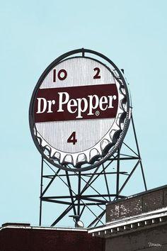 Dr Pepper Landmark Sign Roanoke Virginia Canvas Print / Canvas Art by Teresa Mucha Roanoke Virginia, Canvas Art, Canvas Prints, Dr Pepper, Japan, Vintage Signs, Fine Art America, Stuffed Peppers, Wall Art