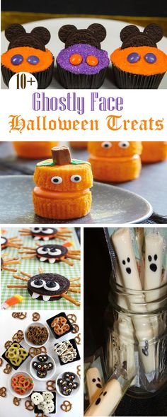10+ Ghostly Face Halloween Treats